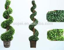Indoor and outdoor Artificial TOPIARY BOXWOOD SPIRAL TREE