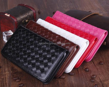Woven pattern with Credit Card Slots & Holder for iphone 6 leather case
