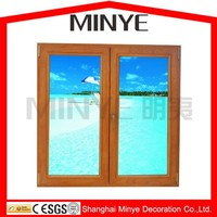 aluminum frame double glazed double layer glass window from China