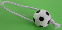 New pet toys football with cotton rope dog toys