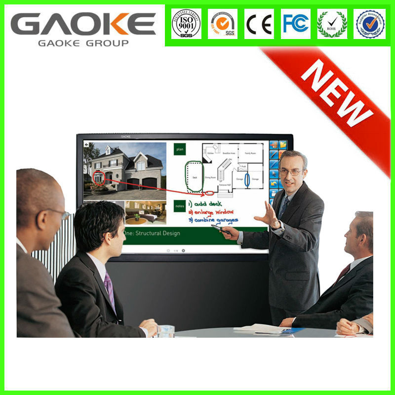 Gaoke 84 inch LCD interactive touch screen PC,free whiteboard software, optional TV