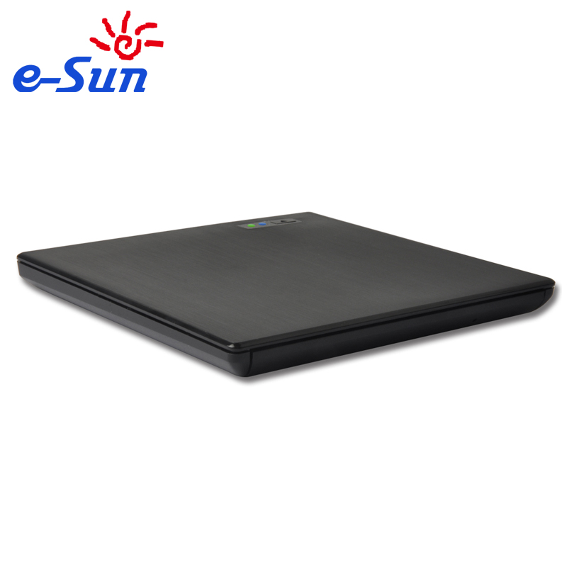 E-sun 9.5MM USB 3.0 External DVD RW drive writer with 2 LED lights