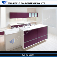 Modern design free standing stainless steel kitchen cabinet cabinets for kitchen purple color