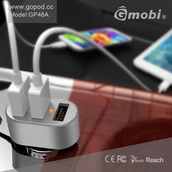 Fancy 3 Port ( 6.3A ) Electric Car USB Charger Convenient For Androids/iPhones/iPads/Tablets PC/Digital Camera