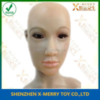 X-MERRY LATEX REALISTIC FEMALE DISGUISE FANCY CROSS DRESS RUBBER HEAD WOMAN LADY MASK