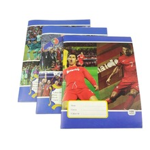 Large stock soccer star 100 pages b5 primary school exercise book with staple binding