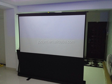 Pull Up Protable Floor Projector Screen 80 inch 92 inch 100 inch 4:3 16:9 formate