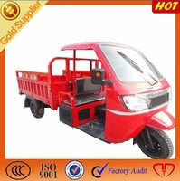 200cc wind cooling metal cabin three wheel motorcycle cargo tricycle
