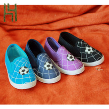 hello football pattern kitty flat casual canvas shoes slip on style