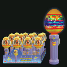 wholesale glow in the dark easter lighted egg shaped flashing spinning wand