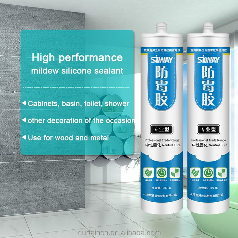 For Bath Tubs Neutral Antibacterial Silicone Sealant Clear