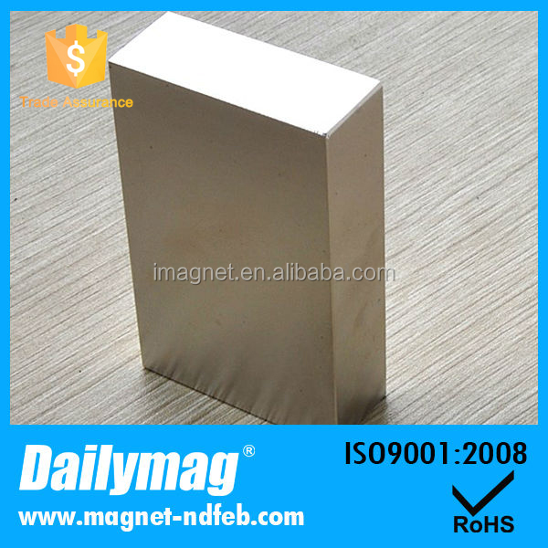 "N52 2"" Block Neodymium Magnet, Two Inch Cube Rare Earth Magnet"