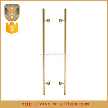 1500mm sss gold 316 stainless steel pull handle& push handle