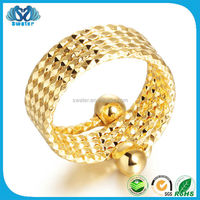 Fashion Modeling 24K Solid Gold Ring