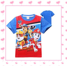 Paw Patrol boys t shirt short sleeve t-shirt for boy New 2015 cartoon Paw Patrol