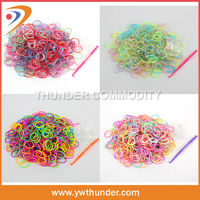 2014 Newest Hot Crazy Fun Cheap Colorful Elastic Rubber Band Kit DIY Silicone Loom Band