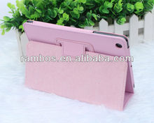 For ipad Mini Cases Cover,Pink Flip Leather Case for iPad mini