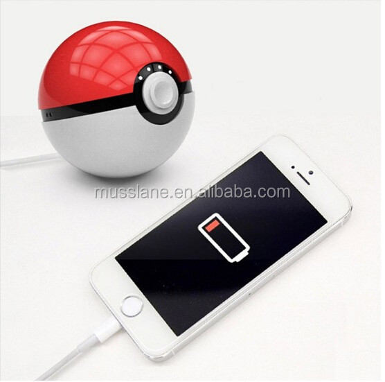 China best Factory price Pokeball Toy funny Power Bank 12000 mAh Pokemon go Magic Ball LED light Double USB 2.4A Fast Charger
