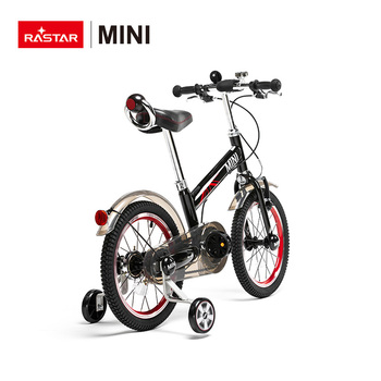 MINI COOPER soft seat children quad bike Rastar child 16 inch balance bike with 4 wheel