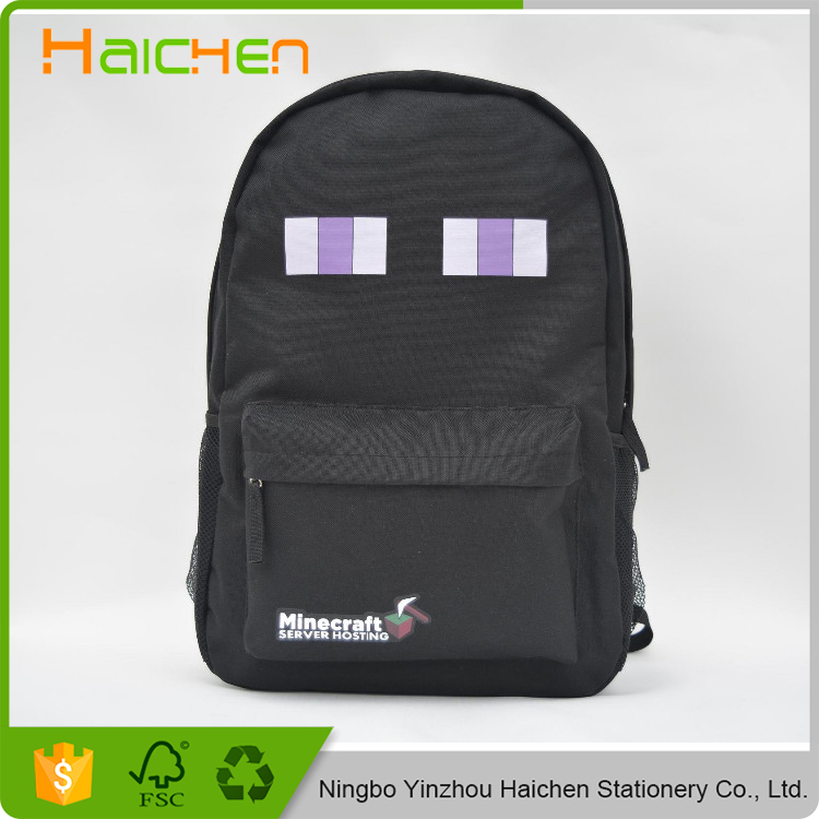 High quality teenager student school bag preppy style kid fashion mochila minecraft backpack