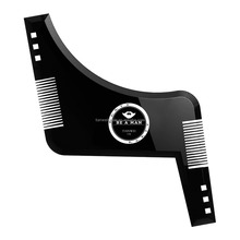 Beard Shaping Template Comb for Men/ Perfect Symmetric Lines for Mustache Goatee Side Burns Neck / Use With A Trimmer