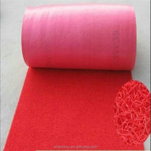 Plain design red blue green color PVC coil floor roll mat