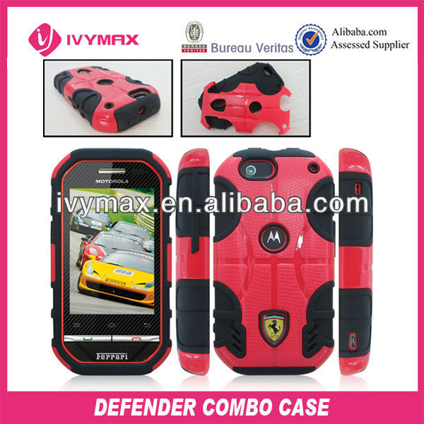 China products various silicone combo case for motorola i867