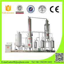 Low investment high profit Energy saving pyrolysis oil distilation machine with oil filter
