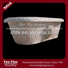 2013 Handcarved Natural Bathroom marble bowl bathtub