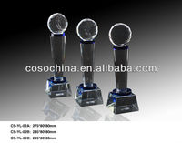 High Quality Crystal Glass Award Cup with Ball Top