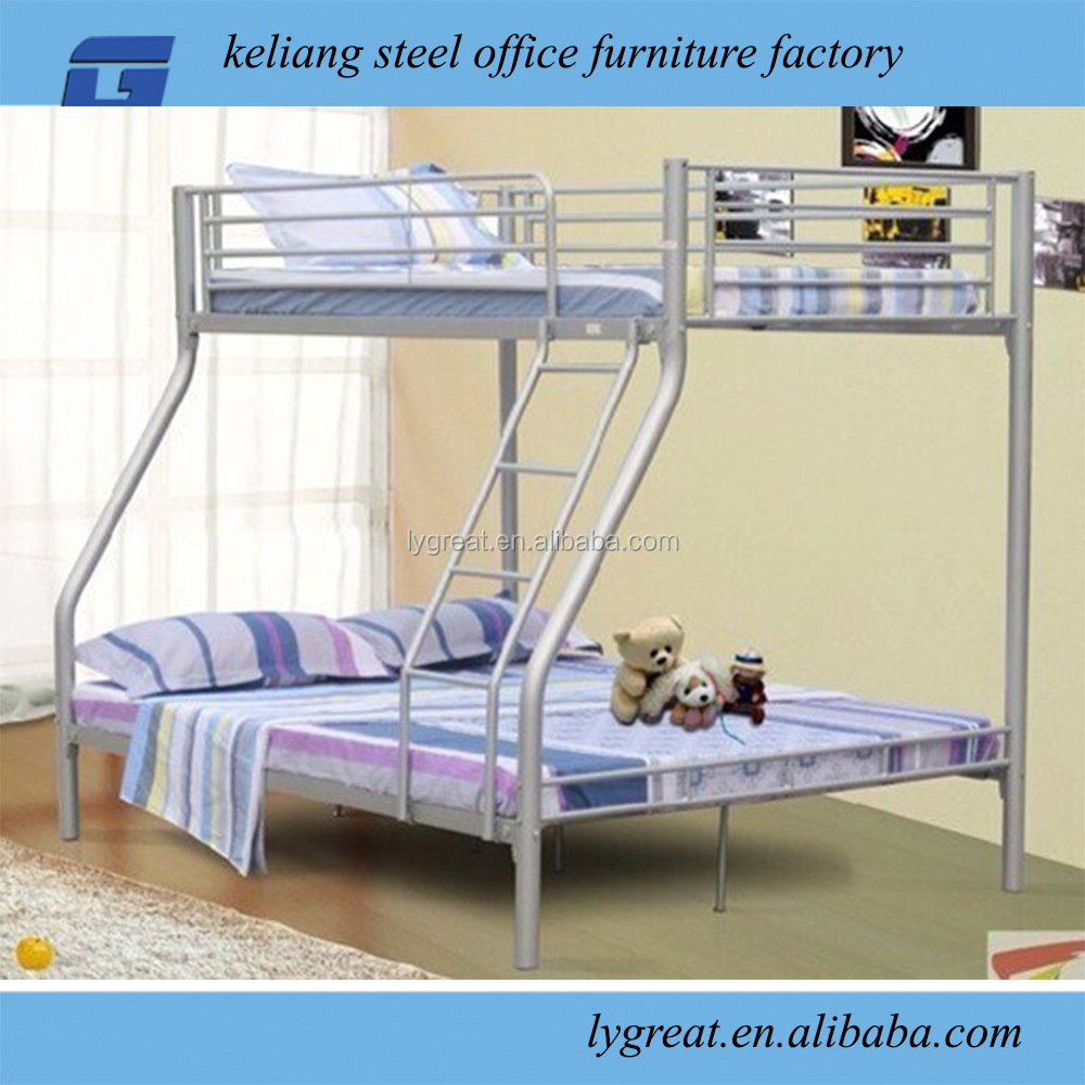 Twin over full Bunkbed in Grey Steel Metal Frame