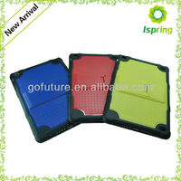 Coloful case with stand,mixing plastic with soft TPU cover for ipad mini