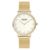 Fancy Minimalist Stainless Steel Case Watch Women