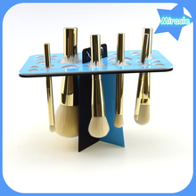 Makeup brush organizer blue black makeup brush display rack acrylic makeup dryer