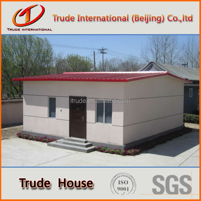 color steel PU sandwich panel prefabricated house