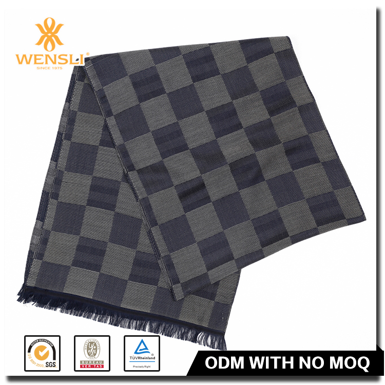 Wholesale Jacquard Fabric Brushed Silk Scarf