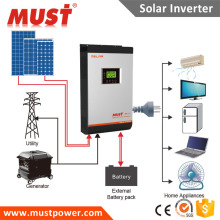 Competitive Price 3kva 2400w 24v solar ups off grid solar inverter 80A mppt solar charger max