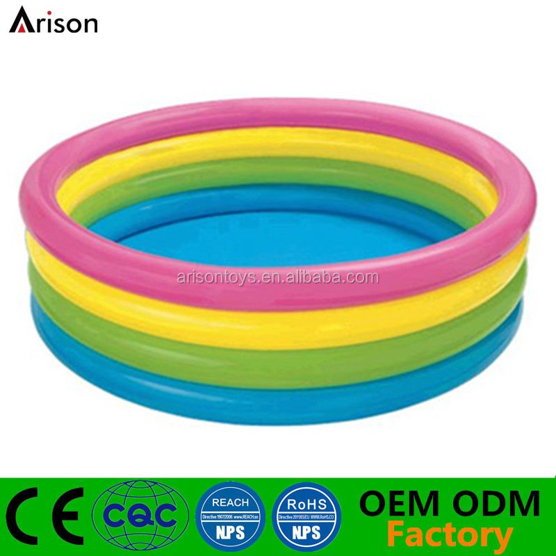 CE-EN71 non-tox colorful inflatable kids' swimming pool baby small pvc pool paddling pool