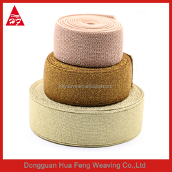 Polyester elastic bands with gold color string