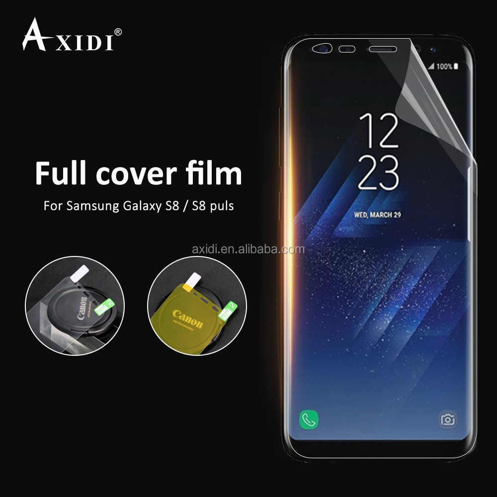 free shipping TPU Material Soft 3D TPU Screen Protective Film for Samsung Galaxy S8 S8 Plus