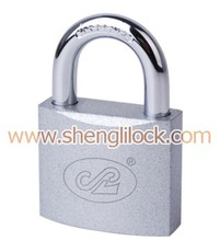Top Quality sliver spray painted iron padlock with normal keys