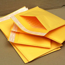 Yellow Kraft cheap paper bubble envelope/kraft envelope gold kraft packaging bag