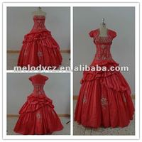 Chinese characteristic special red elegant ball gown high quality wedding dress
