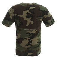 Civilian T-shirt in Woodland camo military clothing uk