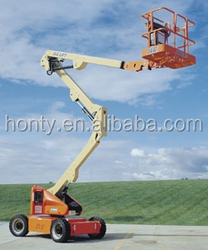 6-14M trailing articulating boom lift/cleaning lift platform for sale