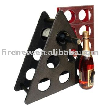 Factory supplier wine rack holder Leather wine bottle rack FN0532