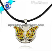 Crystal Yellow Butterfly Ball Marker Necklace