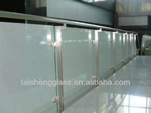 8mm/10mm/12mm Standard frosted tempered glass fence panels /AS/NZS 2208: 1996/EN12150/SGCC