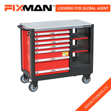 FIXMAN Garage Wheeled Workbench movable Tool With 7-Drawers