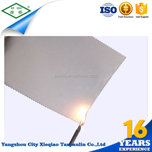 Discount folded standard polyester fabric clear mesh pvc tarpaulin